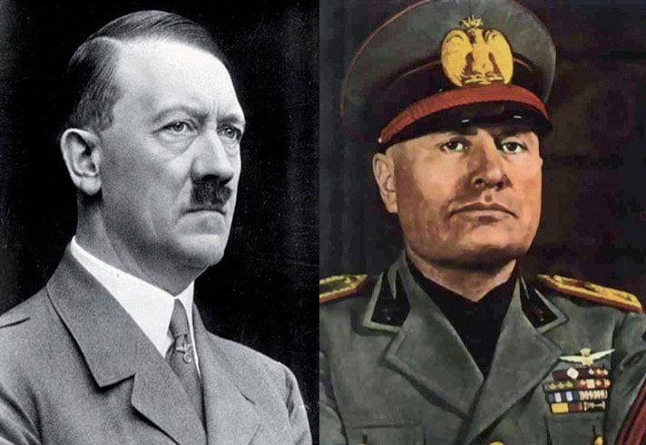 Άντολφ Χίτλερ, Μπενίτο Μουσολίνι