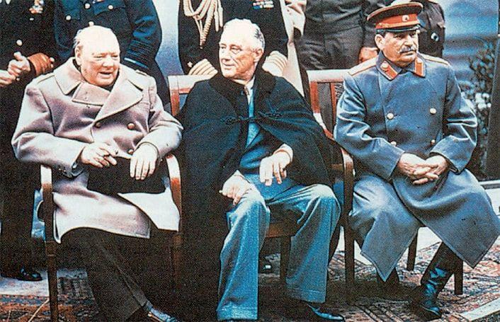 Σερ Ουίνστον Τσόρτσιλ, Φραγκλίνος Ρούζβελτ, Ιωσήφ Στάλιν
